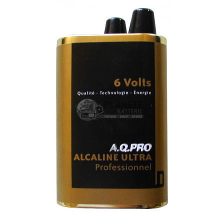 Pile 4R25 alcaline 6V à ressorts AQPRO