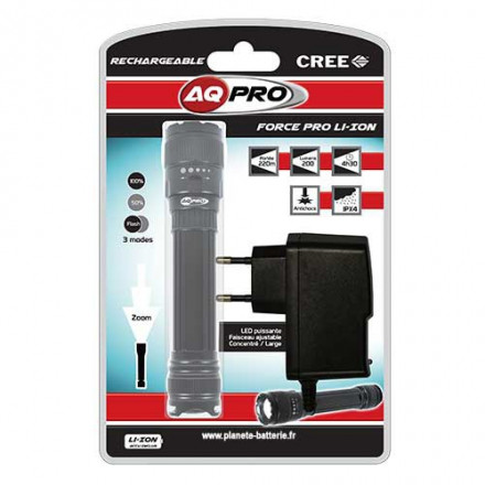 AQ PRO Torche LED aluminium rechargeable | Point.P