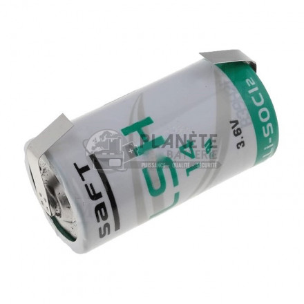 Pile Lithium : Pile lithium industrielle LSH14 - 3.6V SAFT avec languettes