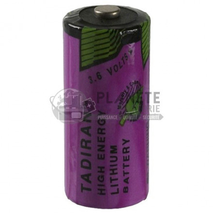 Pile Lithium : Pile lithium industrielle LSH2/3AA - 3.6V TADIRAN