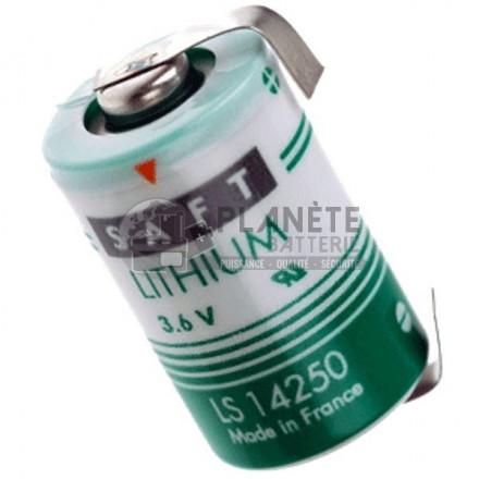 Pile Lithium : Pile lithium industrielle LSH3 - 3.6V SAFT avec languettes