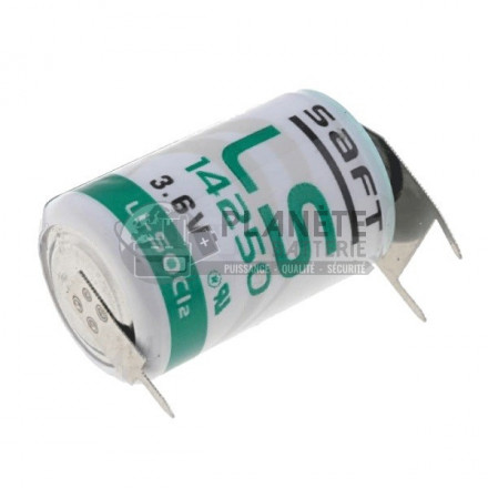 Pile Lithium : Pile lithium industrielle LSH3 - 3.6V SAFT avec picots