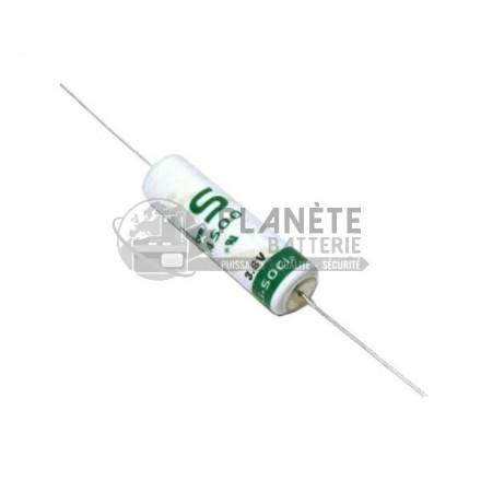 Pile lithium industrielle LSH6 - 3.6V SAFT avec fils axiaux