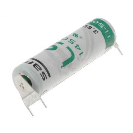 Pile lithium industrielle LSH6 - 3.6V SAFT avec picots