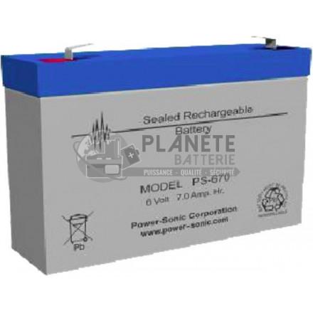 Batteries au plomb : Batterie Plomb étanche 6V 7.7Ah VRLA AGM
