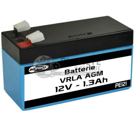 Batteries au plomb : Batterie Plomb étanche 12V 1.3Ah VRLA AGM