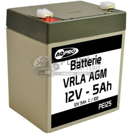 Batterie Plomb étanche 12V 5Ah VRLA AGM