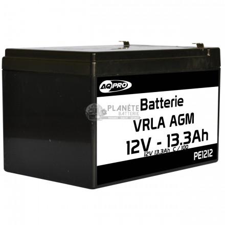 Batteries au plomb : Batterie Plomb étanche 12V 13.3Ah VRLA AGM