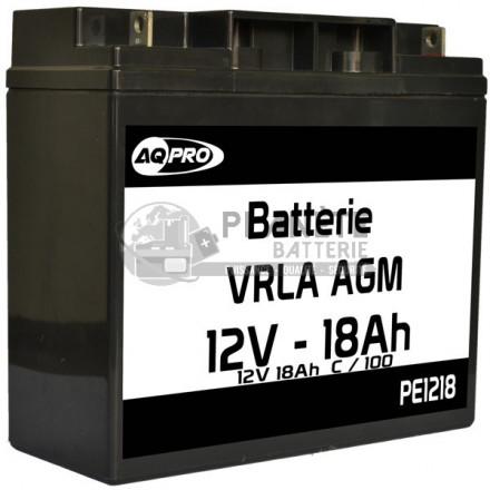 Batteries au plomb : Batterie Plomb étanche 12V 18.5Ah VRLA AGM
