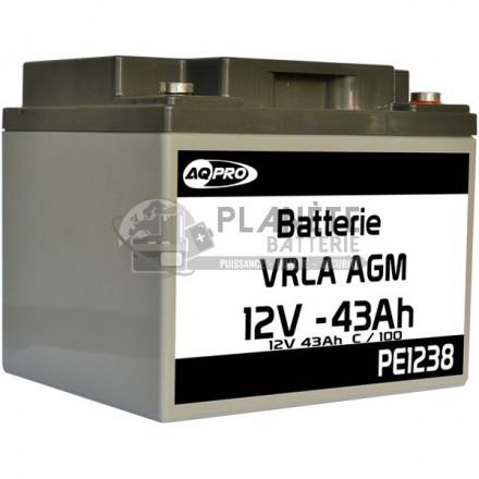 Batteries au plomb : Batterie Plomb étanche 12V 43Ah VRLA AGM