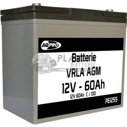 Batteries au plomb : Batterie Plomb étanche 12V 60Ah VRLA AGM