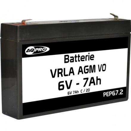 Batterie plomb étanche 6V 7.2Ah VRLA AGM flamme retardante