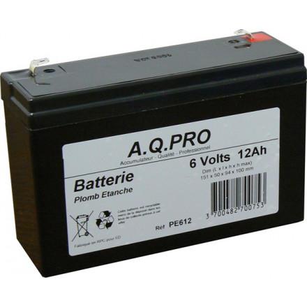 Batterie plomb étanche 6V 11Ah  VRLA AGM flamme retardante