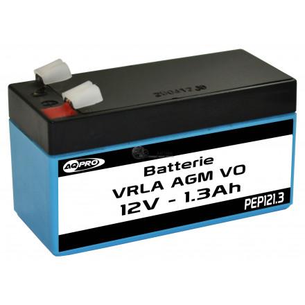 Batterie plomb étanche 12V 1.3Ah VRLA AGM flamme retardante