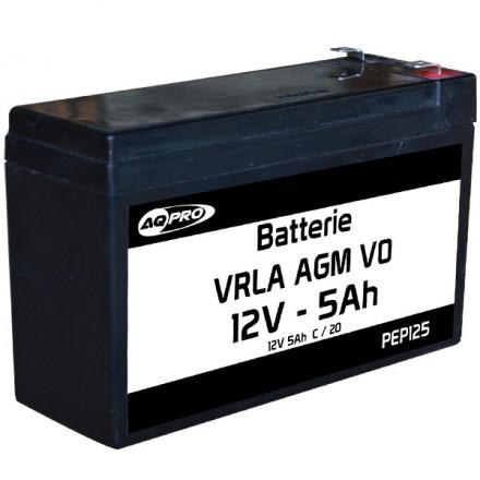 Batterie plomb étanche 12V 5Ah VRLA AGM flamme retardante