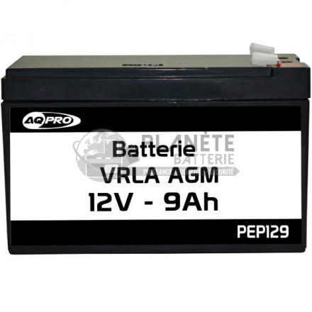 Batterie plomb étanche 12V 9Ah VRLA AGM flamme retardante