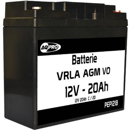 Batterie plomb étanche 12V 18Ah VRLA AGM flamme retardante