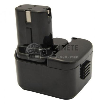 Batterie type HITACHI EB12222HL. EB1226HL. EB1230X. EB1233X - 12V NiMH 3Ah