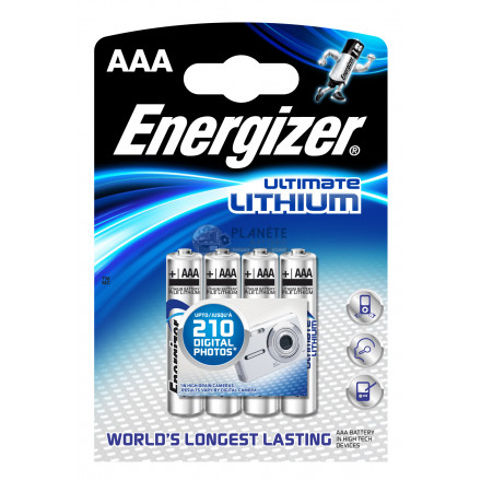 PILE AAA L92 1.5V LITHIUM ULTIMATE ENERGIZER B3+1