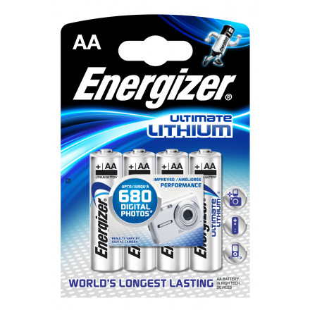 PILE AA L91 1.5V LITHIUM ULTIMATE ENERGIZER B3+1