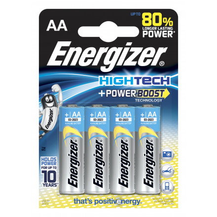 PILE AA LR6 1.5V ALCALINE HIGH TECH POWERBOOST ENERGIZER B4
