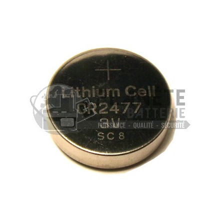 Pile Lithium : PILE CR2477 - 3V - LITHIUM
