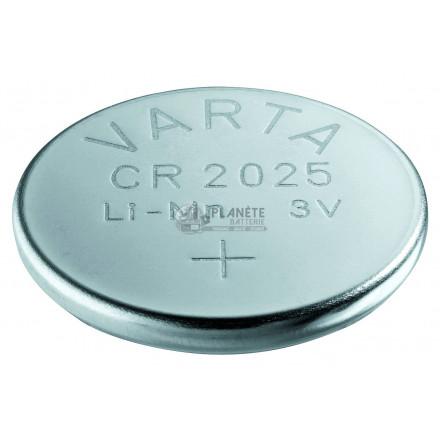 Pile bouton CR2025 - 3V - Lithium - Varta