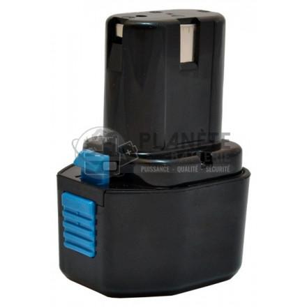 Batterie type HENINGER 9B12070R-EU - 7.2V NiCd 2Ah