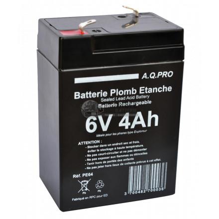 Batteries au plomb : Batterie Plomb étanche VRLA AGM 6V 4Ah