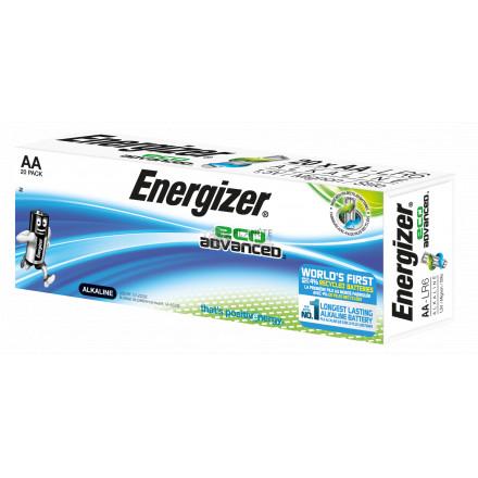 Boîte de 20 piles AA - LR6 Eco Advanced- Energizer