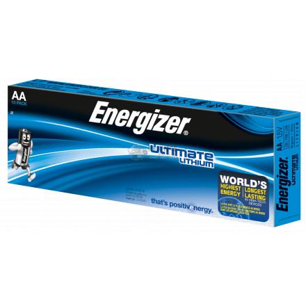 Boîte de 10 piles AA - LR6 Lithium Ultimate - Energizer