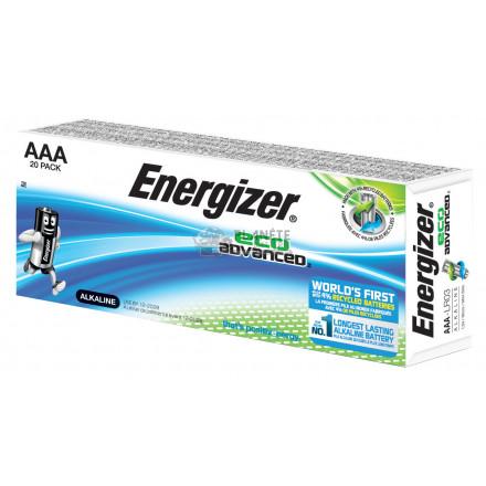 Boîte de 20 piles AAA - LR03 alcalines Eco Advanced - ENERGIZER