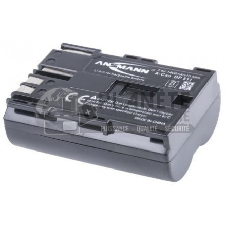 Batterie Canon BP-511 appareil photo CANON - 7.4V Li-Ion 1400mAh 10.4Wh