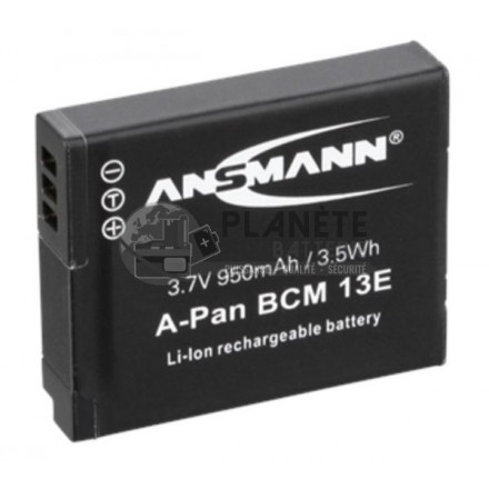 Batterie appareil photo PANASONIC DMW-BCM13E - 3.7V, Li-Ion, 950mAh, 3.5Wh
