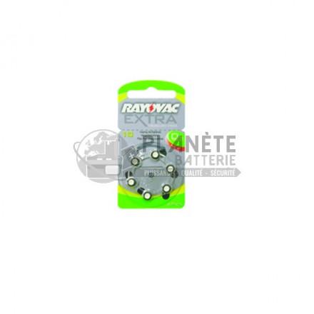 8 piles zinc-air 10 - PR70 - 1.4V Rayovac 0% mercure