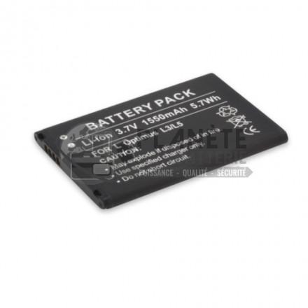 Batterie téléphone LG OPTIMUS L3/L5, 3,7V, 1550mAh