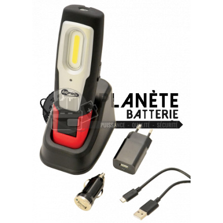 Lampe Baladeuse rechargeable LED COB 3W - A.Q.PRO