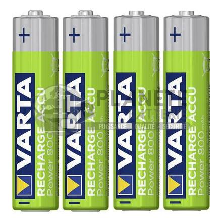 4 PILES RECHARGEABLES AAA - NIMH - 800MAH - VARTA READY2USE