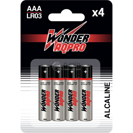 Pile AAA LR03 - 1.5V - WONDER AQPRO