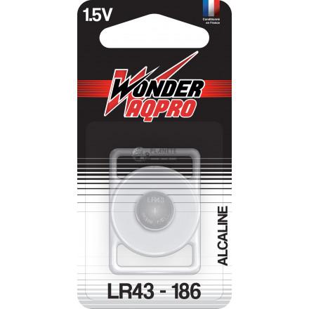 Pile LR43/186 - 1.5V - WONDER AQPRO