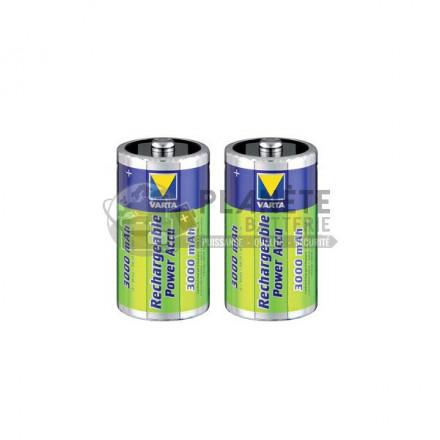 Pile Rechargeable : 2 PILES RECHARGEABLES D - NIMH - 3000MAH - VARTA POWER ACCU