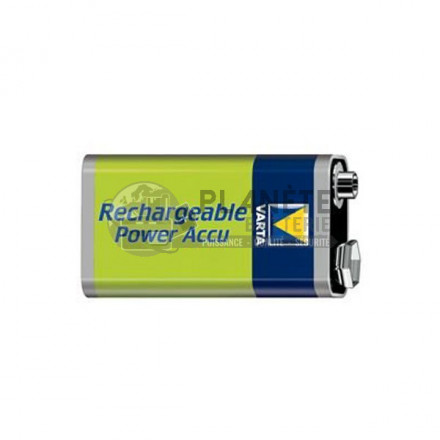 PILE RECHARGEABLE 9V - NIMH - 200MAH - VARTA POWER ACCU