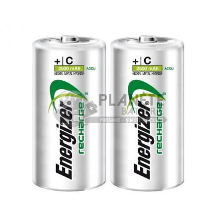 Pile Rechargeable : 2 PILES RECHARGEABLES C - NIMH - 2500MAH - ENERGIZER