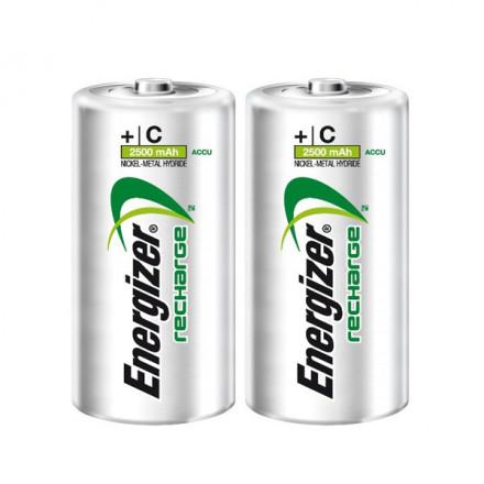 2 PILES RECHARGEABLES C - NIMH - 2500MAH - ENERGIZER