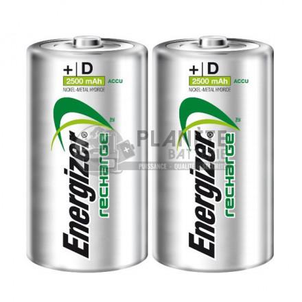 2 PILES RECHARGEABLES D - NIMH - 2500MAH - ENERGIZER