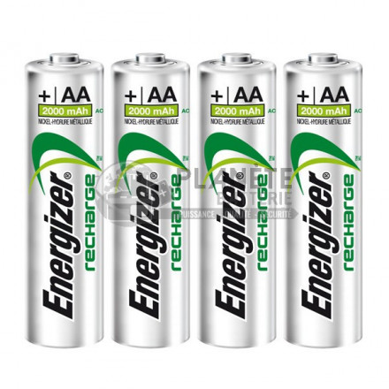 4 PILES RECHARGEABLES AA - NIMH - 2000MAH - ENERGIZER