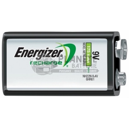 PILE RECHARGEABLE 9V - NIMH - 175MAH - ENERGIZER