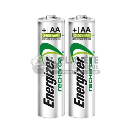 Pile Rechargeable : 2 PILES AA PRÉCHARGÉES ET RECHARGEABLES - NIMH - 2400MAH - ENERGIZER PRECISION