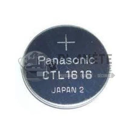 Accus Li-Ion : PILE BOUTON RECHARGEABLE (ACCU) POUR MONTRE - CTL1616 - 2,3V - LITHIUM - A.Q.PRO