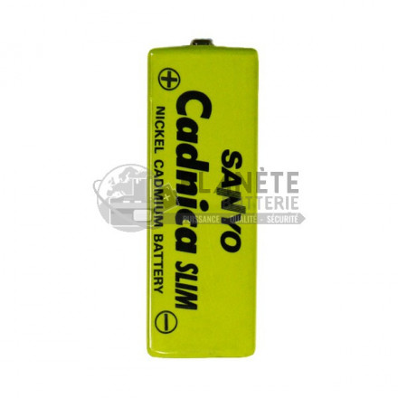 ACCUMULATEUR PRISMATIQUE - KF-B650 - 1,2V - 650MAH - NICD - SANYO